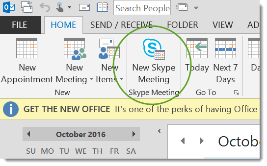 """New Skype Meeting"""" Button Missing from Outlook – Casa Pacifica Help"""